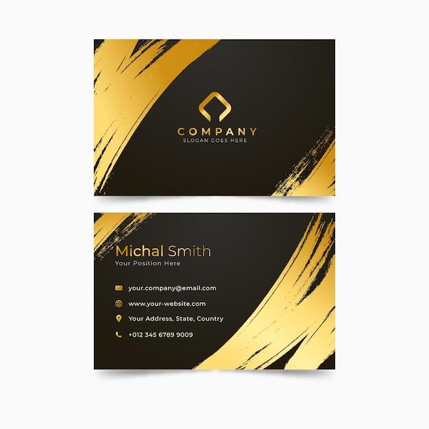 Modèle de carte de visite de taches d'or Vecteur gratuit