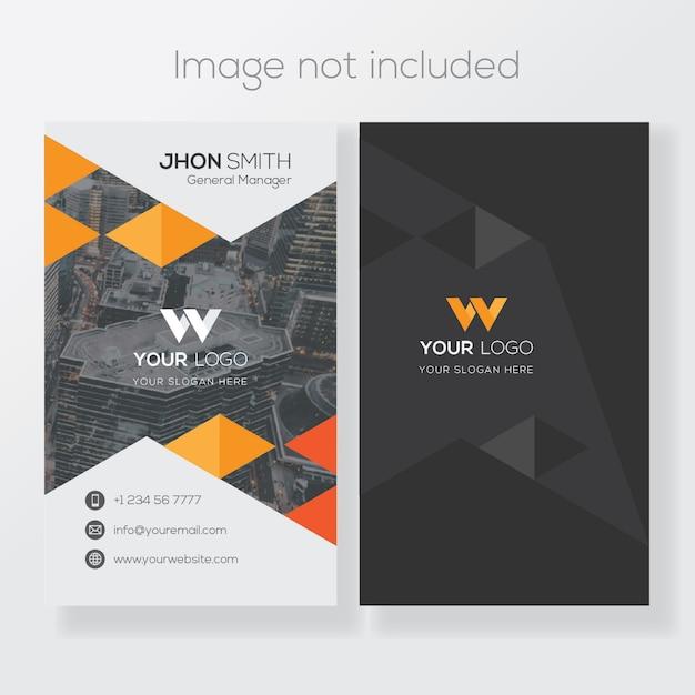 Modèle de carte de visite verticale Vecteur Premium