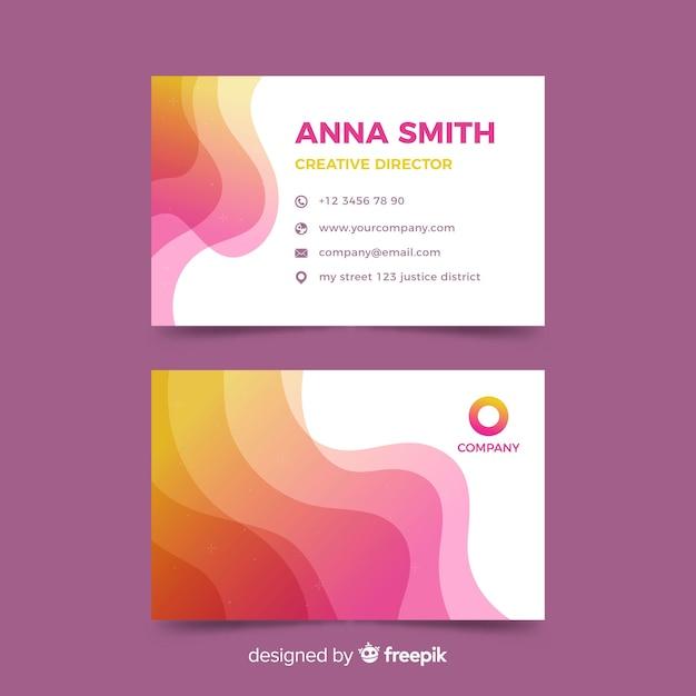 Modèle de carte de visite violet abstrait Vecteur gratuit