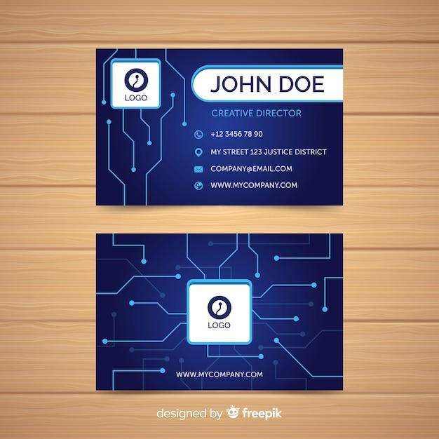 Modèle de carte de visite Vecteur gratuit