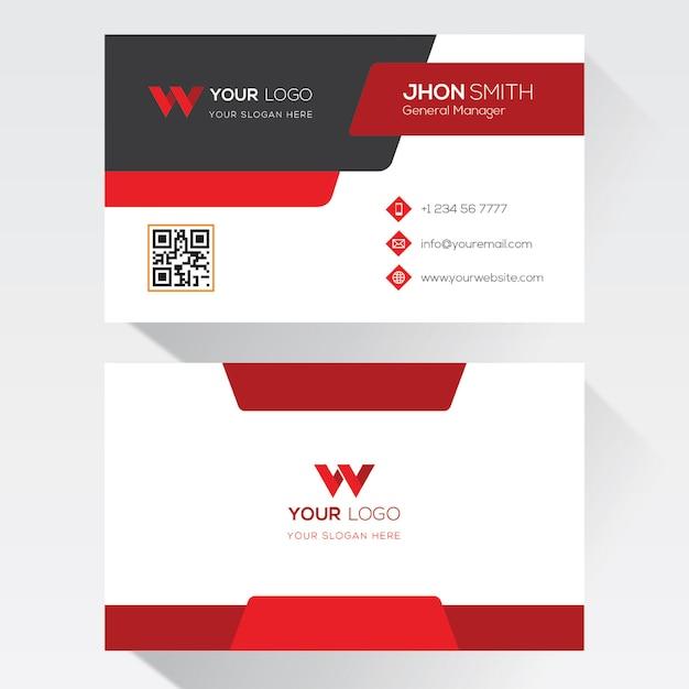 Modèle de carte de visite Vecteur Premium