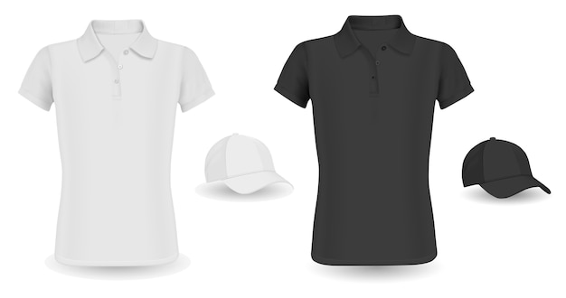 Modèle de casquette de baseball Vecteur Premium