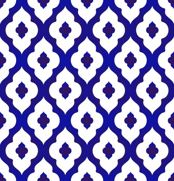 Modèle en céramique style islamique Vecteur Premium