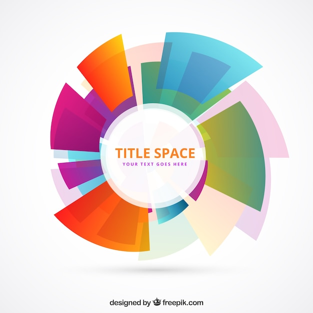 Modèle De Cercle Fait De Formes Colorées Vecteur gratuit