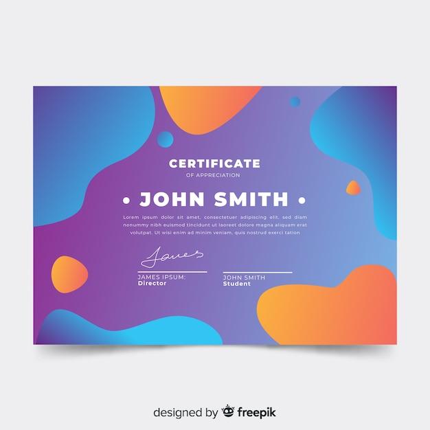 Modèle de certificat abstrait Vecteur gratuit