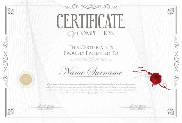 Certificat Modèle Gratuit Télécharger Des Vecteurs