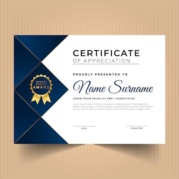 Modèle De Certificat D'appréciation Rouge Géométrique Vecteur Premium