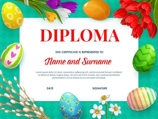 Modèle De Certificat De Diplôme Pour Enfants, Conception De L'éducation Vecteur Premium
