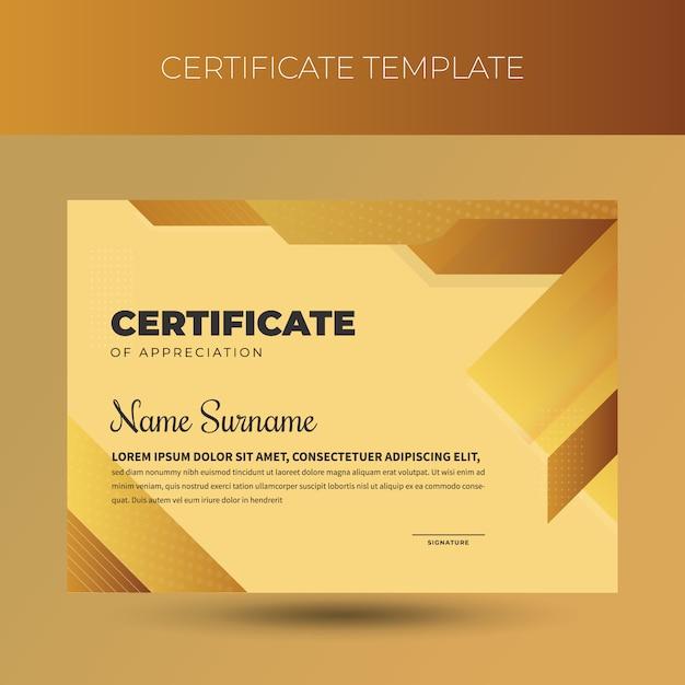 Modèle de certificat de diplôme professionnel Vecteur Premium