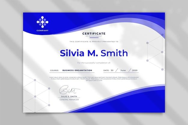 Modèle De Certificat D'entreprise Vecteur gratuit
