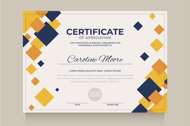 Modèle De Certificat Géométrique Abstrait Vecteur Premium