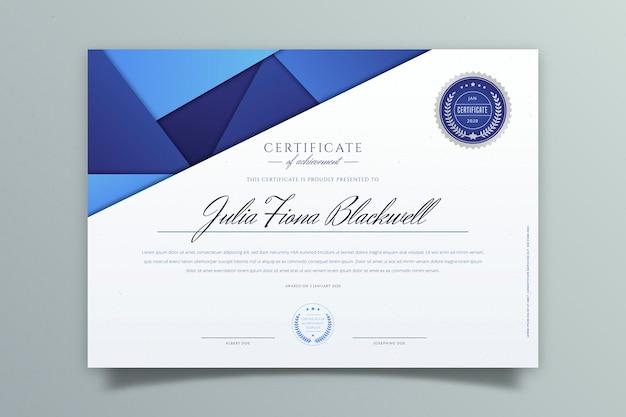 Modèle De Certificat Géométrique Abstrait Vecteur gratuit