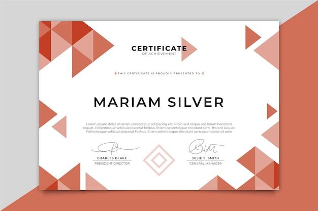 Modèle De Certificat Moderne Avec Triangles Vecteur gratuit