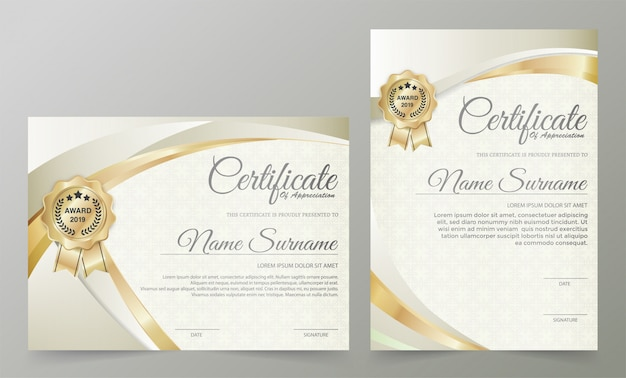 Modèle De Certificat Professionnel Vecteur Premium