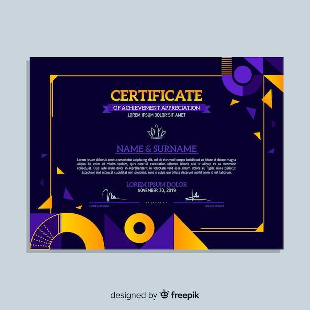 Modèle de certificat professionnel Vecteur gratuit