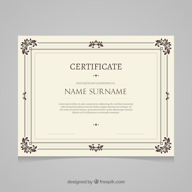 Modèle de certificat rétro Vecteur gratuit
