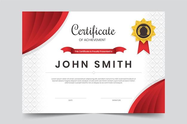 Modèle De Certificat De Réussite Vecteur Premium