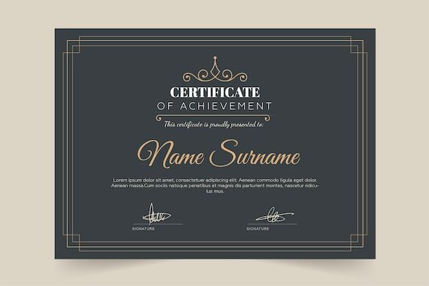 Modèle De Certificat Style Luxe Et Diplôme Vecteur gratuit
