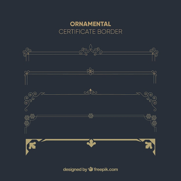Modèle de certificat avec style vintage Vecteur gratuit