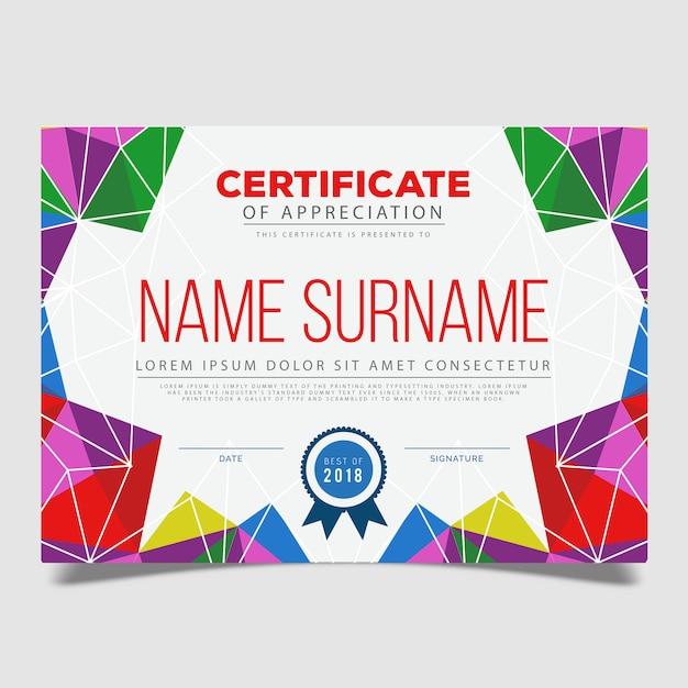 Modèle de certificat de vecteur Vecteur gratuit