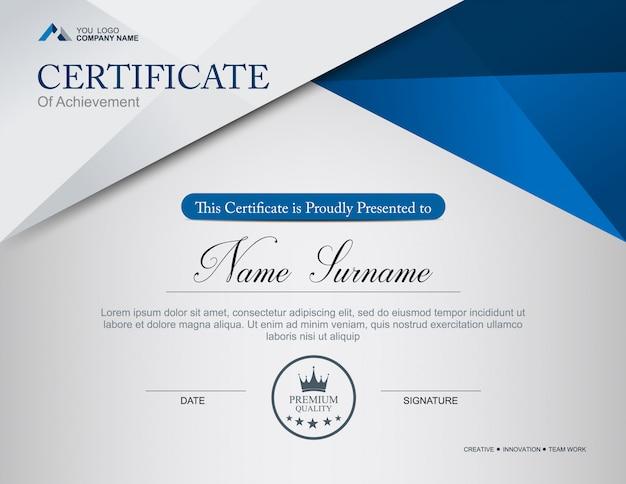Modèle de certificat de vecteur Vecteur Premium