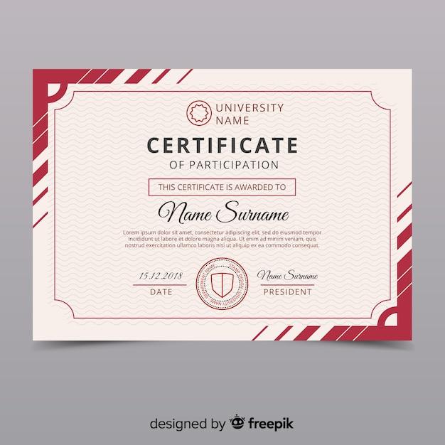 Modèle de certificat vintage créatif Vecteur gratuit