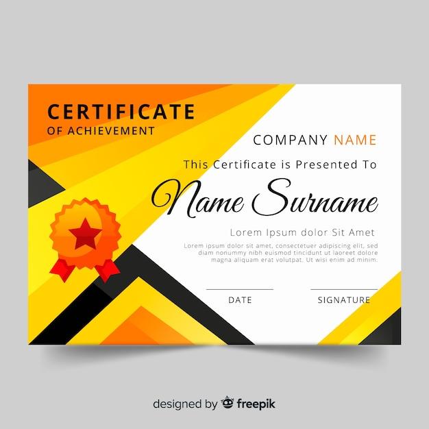 Modèle de certificat Vecteur gratuit