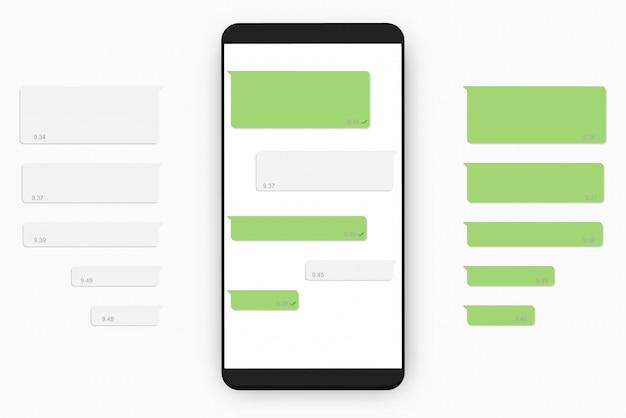 Modèle de chat mobile Vecteur Premium