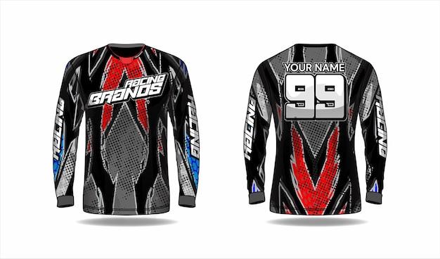 Modèle De Chemise De Motocross, Conception De Maillot De Course Vecteur Premium