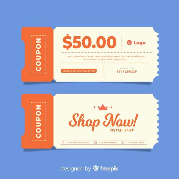 Modèle De Chèque-cadeau Créatif En Vente Vecteur Premium