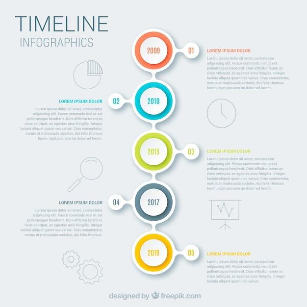 Modèle De Chronologie Métier Avec Style Infographique Vecteur gratuit