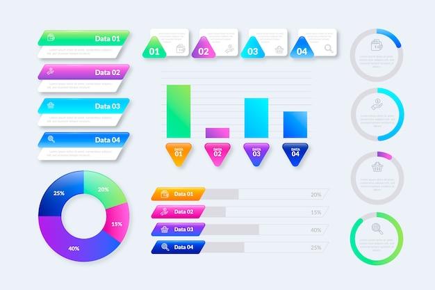 Modèle de collection d'éléments infographiques Vecteur gratuit