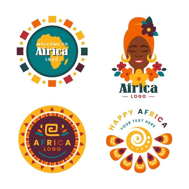 Modèle De Collection De Logo Afrique Vecteur Premium