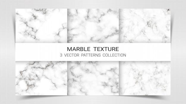 Modèle de collection de modèles de marbre premium set. Vecteur Premium