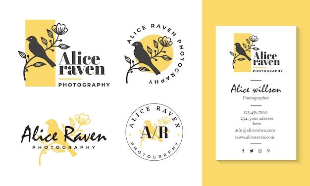 Modèle de collections de logo féminin Vecteur Premium