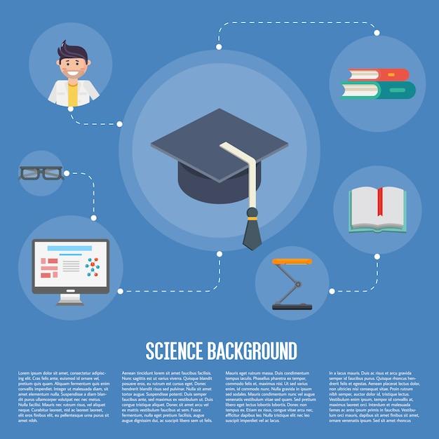 Modèle De Concept De L'éducation Infographie Vecteur Premium