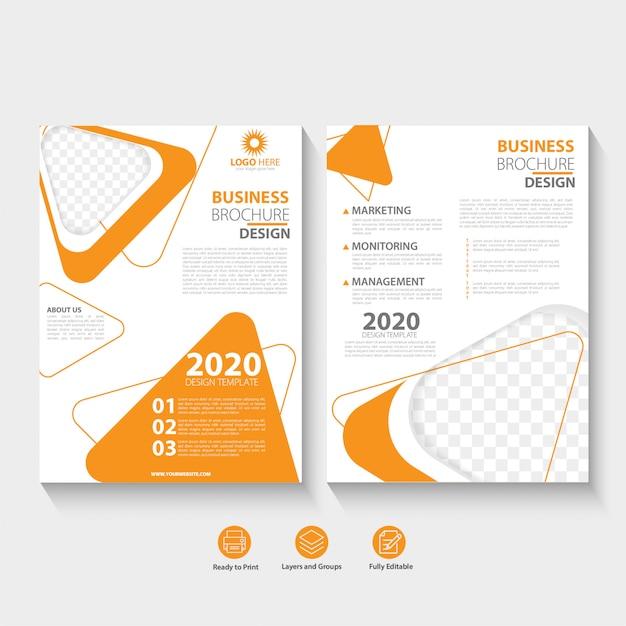 Modèle De Conception Abstraite De Brochure D'entreprise Vecteur Premium