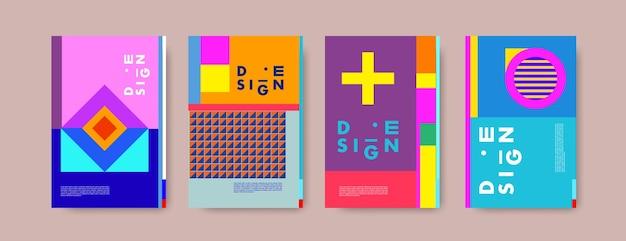 Modèle de conception d'affiche abstraite collage coloré Vecteur Premium