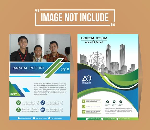 Modèle de conception d'arrière-plan de brochure de couverture d'entreprise Vecteur Premium