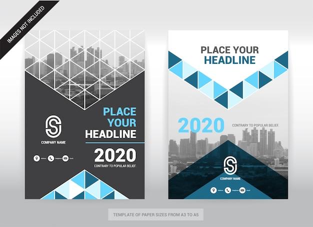 Modèle de conception de brochure city background business cover. facile à utiliser. Vecteur Premium