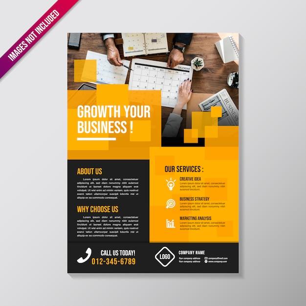 Modèle de conception de brochure de création d'entreprise Vecteur Premium