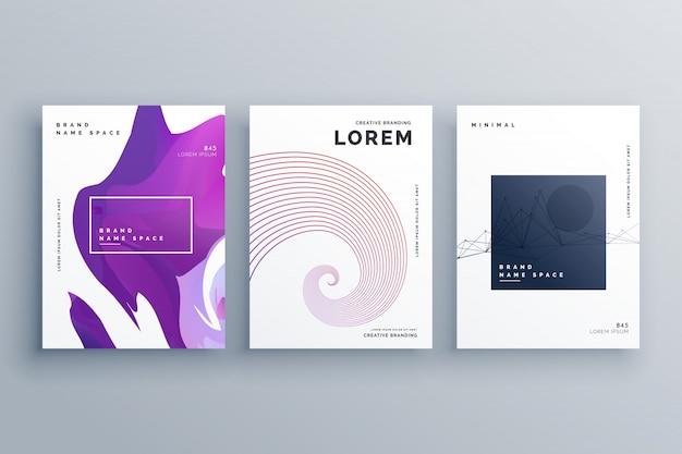 Modèle de conception de brochure créative dans le style minimal de format a4 Vecteur gratuit