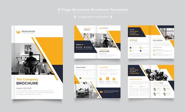 Modèle De Conception De Brochure D'entreprise Pages Vecteur Premium