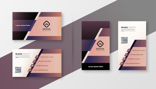 Modèle De Conception De Carte De Visite Créative Géométrique élégante Vecteur gratuit