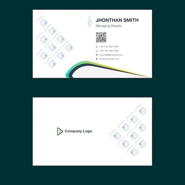 Modèle de conception de carte de visite créative Vecteur Premium