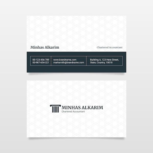 Modèle De Conception De Carte De Visite Dans Le Style Professionnel D'entreprise Du Cabinet D'avocats Vecteur Premium