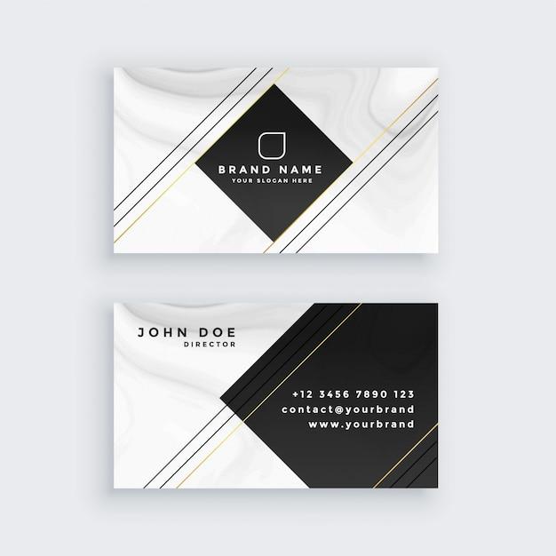 Modèle de conception de carte de visite professionnelle Vecteur gratuit