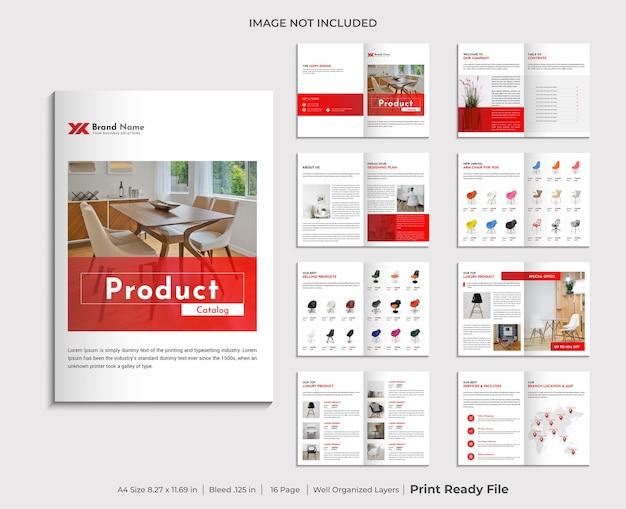 Modèle De Conception De Catalogue De Produits D'entreprise Vecteur Premium