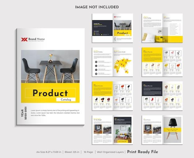 Modèle De Conception De Catalogue De Produits Vecteur Premium