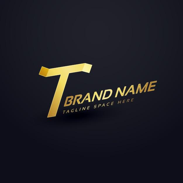 Modèle De Conception De Concept De Logo T De Lettre Premium Vecteur gratuit